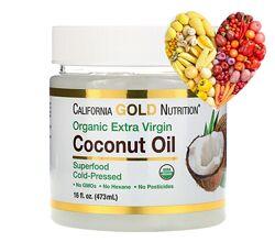 California Gold Nutrition, Органическое кокосовое масло 473 мл