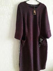 Шикарное теплое платье с s&l collection. Батальный размер