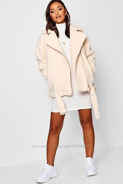 Новая с биркой косуха тэдди меховая куртка boohoo размер 8