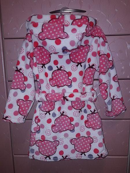 Банный халат для девочки 3-4 года