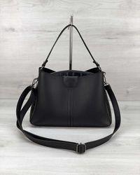 Женская черная сумка среднего размера черный клатч кроссбоди сумка базовая