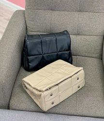 Черная сумка на плечо среднего размера стеганый клатч черный стеганая сумка