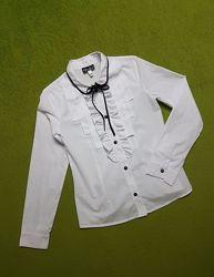 Нарядная белая блузка на девочку 152-158 см, Sasha