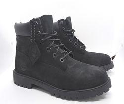Кожаные водонепроницаемые черные ботинки Timberland с Primaloft оригинал