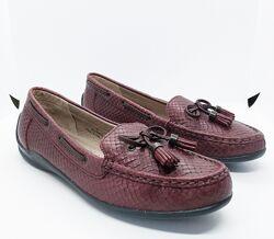 Кожаные стильные удобные мокасины туфли FootGlove