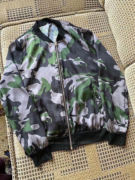 Куртка Ветрівка Шовк Легка Для дівчинки Ріст 152/146см