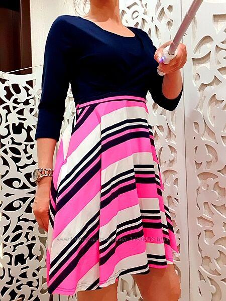 Платье новое HAPPY MAMA для беременной девушки Яркое Германия