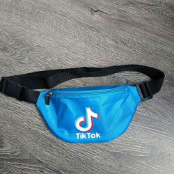 Голубая бананка TikTok сумка на пояс