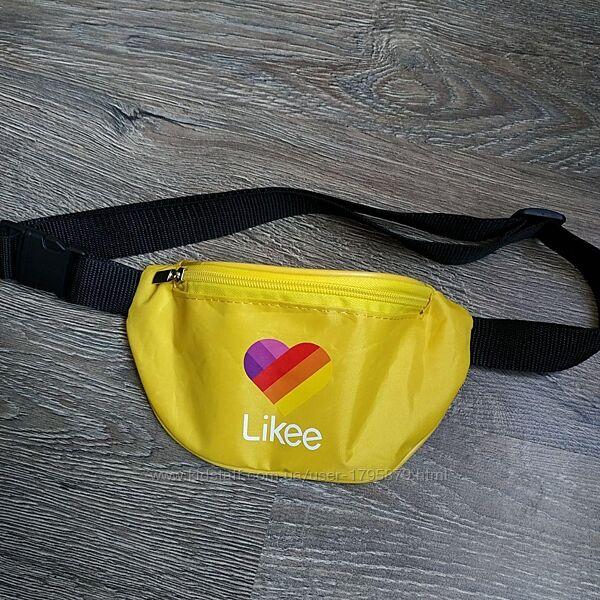 Желтая бананка Likee сумка на пояс