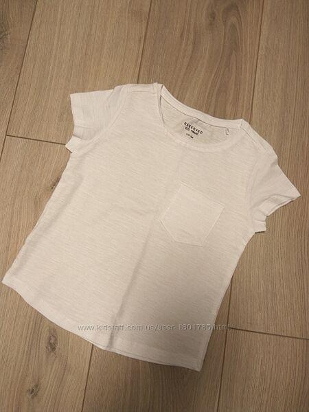 Белая футболка на девочку 110