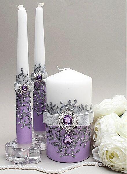 Свадебные свечи Семейный очаг  разные цвета