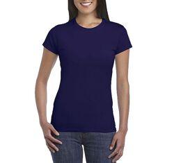 Женская синяя хлопковая футболка Gildan SoftStyle 64000L 4 цвета 5 размеров