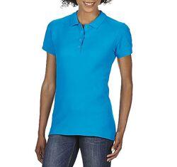 Женская хлопковая футболка-поло Gildan SoftStyle 64800 3 цвета 5 размеров