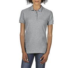 Женская серая хлопковая футболка-поло Gildan SoftStyle 64800-CG 2 цвета