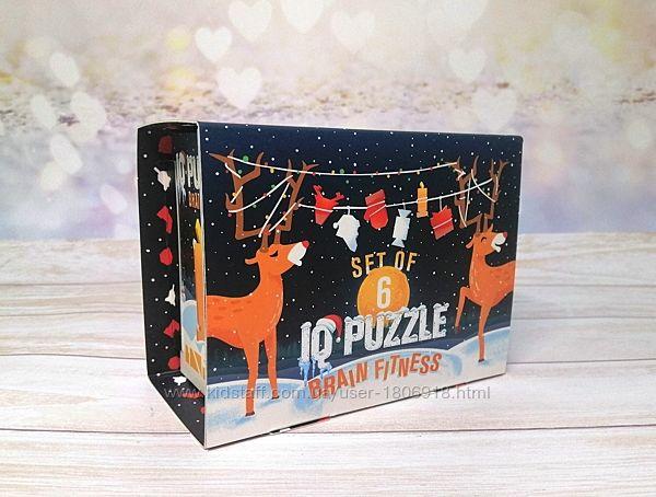 Набор головоломок-паззлов IQ Puzzle Новогодний pz-ny1