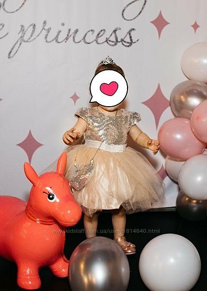 Сукня нарядна для дівчинки на 1 рік, туфельки у подарунок