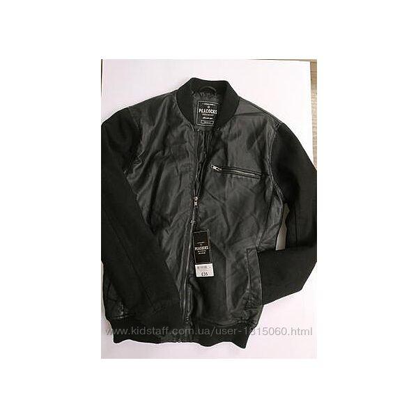 Мужская черная куртка-бомбер Peacocks