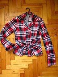 Яркая блузка атласная рубашка офисная/в школу