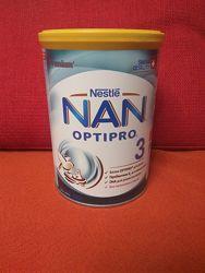 Nan optipro 3 сухая молочная детская смесь, 400гр