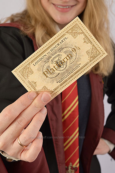 Билет на поезд в Хогвартс, платформа 9 и 3/4, Гарри Поттер