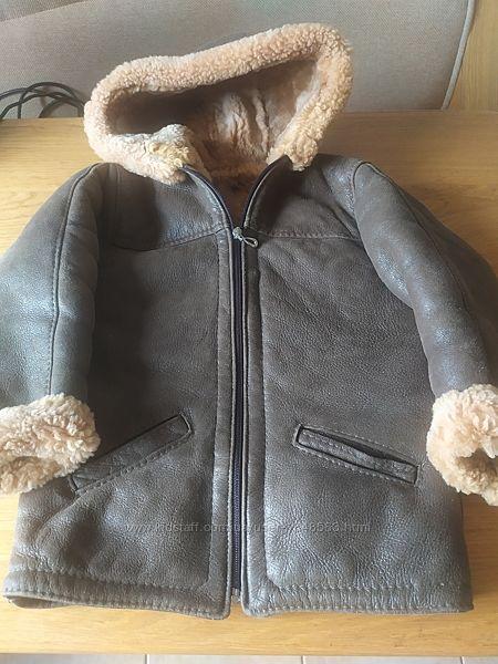Дубленка типа летной куртки