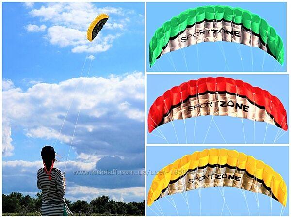 Пилотажный учебный кайт. Воздушный змей. Для детей и взрослых. Видео.