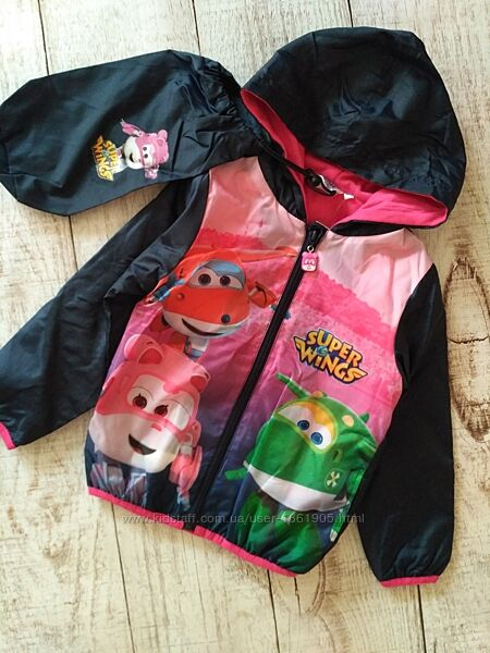 Куртка ветровка, дождевик на флисе на 3-4 года 104 см