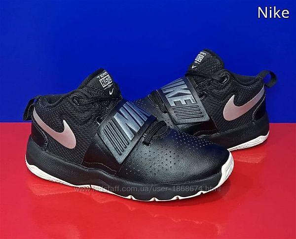 Детские кожаные кроссовки Nike Team Hustle D 8 Оригинал