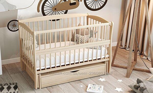 Кроватка колыбель для новорожденных  на шарнирах с подшипником, ящиком
