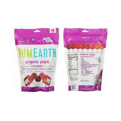 Органические леденцы YumEarth с витамином C, ассорти вкусов, 40 леденцов
