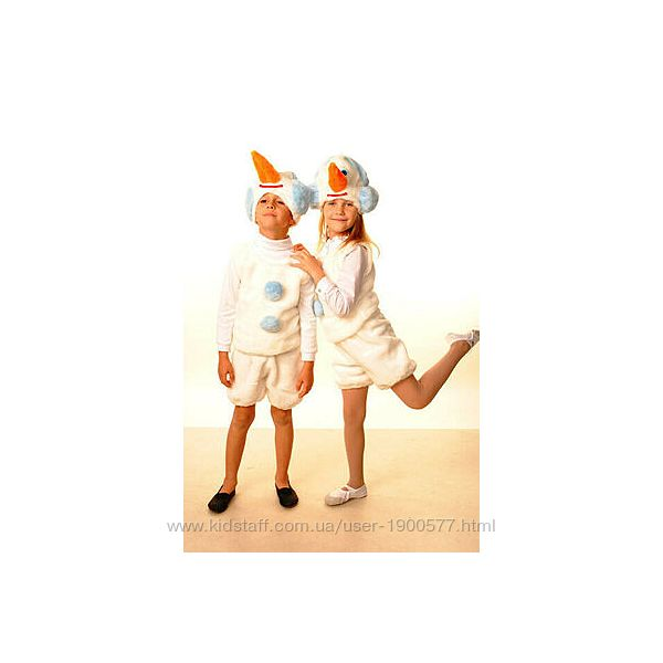 Новогодний карнавальный костюм снеговика прокат