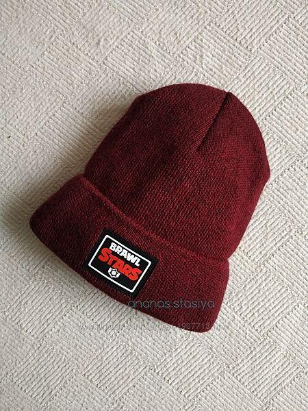 распродажа arctic зимняя бордовая шапка, на флисе brawl stars бравл старс