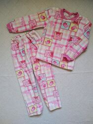 Теплая махровая пижама с пеппой р.110/116
