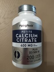 Кальция цитрат плюс витамин D3, 400 мг, 200 капсул США.