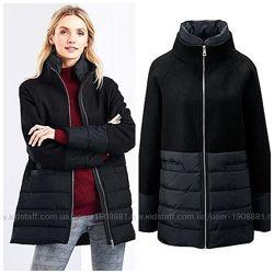 Деми стеганное пальто с шерстью от Tchibo Германия