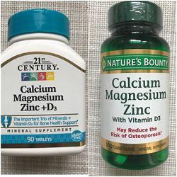 Кальций магний цинк Д3 комплекс витаминов от 21 Century