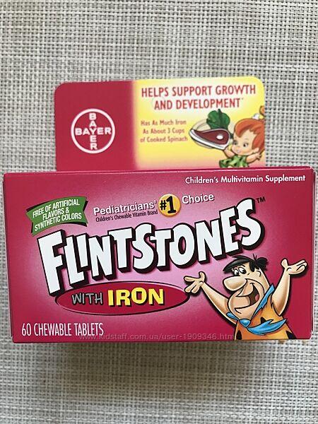 Flintstones, Детский поливитамин с железом , поливитамины для детей ,