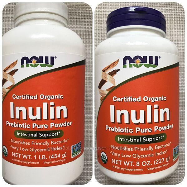 Now Foods,  органический инулин, инулин , пребиотик