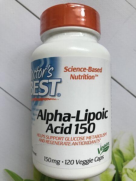 Альфа-липоевая кислота , 150 mg , Doctors Best , Alpha-Lipoic Acid , 120шт
