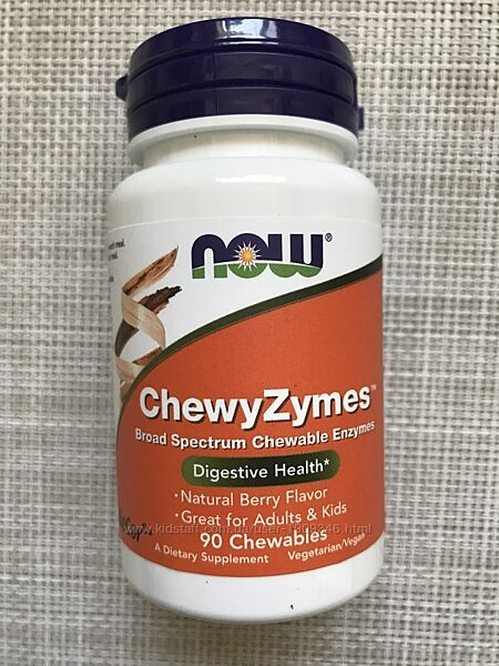 Now Foods, ChewyZymes, ферменты для детей , ферменты , для взрослых