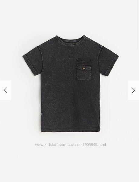 Reserved новая крутая футболка с кармашком мальчику под джинс р. 122-164