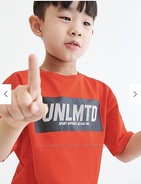 Reserved новая крутая футболка с мальчику р. 110, 146, 152, 164