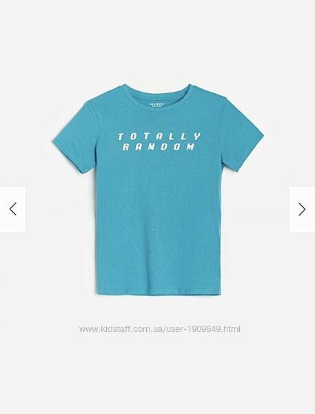 Reserved новая крутая футболка мальчику р  128, 134, 140, 152