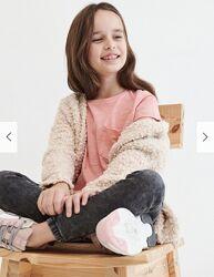 Reserved новая классная футболка девочке с кармашком р. 140,146,152,158,164