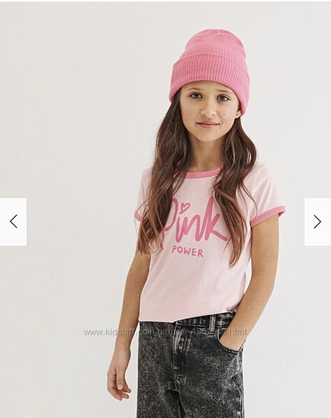 Reserved новая классная футболка девочке с принтом р. 122, 128, 134, 140
