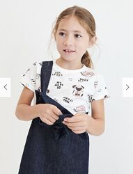 Reserved новая классная футболка девочке с принтом р. 128