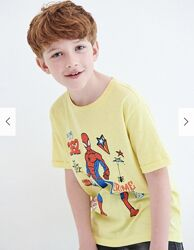 Reserved новая крутая футболка мальчику с человеком-пауком р. 122