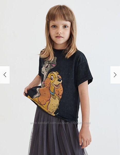 Reserved новая классная футболка девочке с принтом р. 146, 164