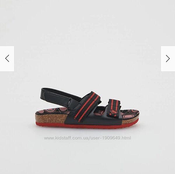 Reserved новые сандали мальчику с человеком-пауком р. 29, стелька 18,5 см