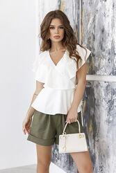 Блуза на запах разные цвета